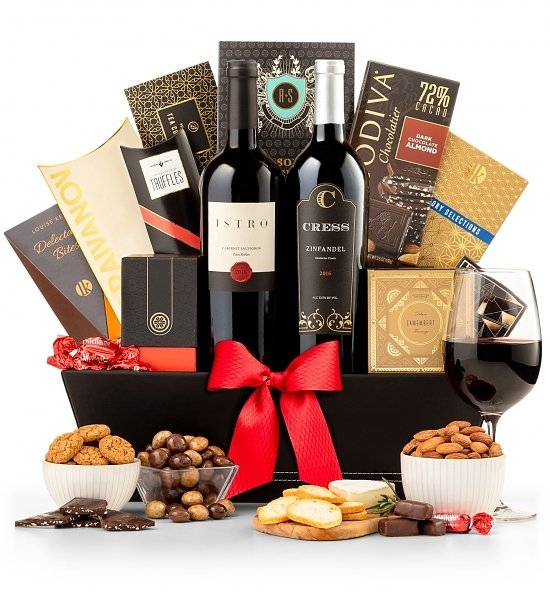 Wine and Gourmet Extravagance Gift Basket